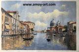 Pitture a olio impressionanti Handmade di paesaggio della città