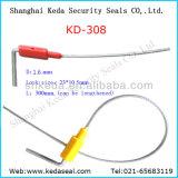 El bloqueo de cable ajustable Retractable plástico Precinto de seguridad (KD-308)
