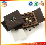 Caja de regalo de chocolate con tapa y divisores