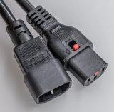 C13, C14 удлинитель блокировки/кабель или кабель питания (САА) (10A/250V)