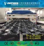 Structure de bambou composite en plastique de la ligne de production de feuilles de toit