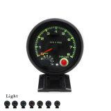 Sc100142 3,75 pulgadas LED de 7 colores coche 0-8000Rim medidor rpm rpm Auto comparador Car Metro
