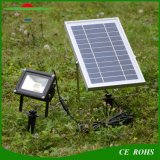 12LED IP65の太陽スポットライトの屋外の光量制御の太陽動力を与えられた洪水ライト