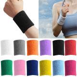 Vrac solide absorber la transpiration Sports Bracelet de couleur de 7,5 x 8 cm (YH-SW034)