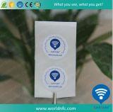 白いブランク13.56MHz受動のUltralight NFCのペーパーステッカー