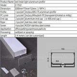 Suspendido de perfiles de aluminio flexible de LED 5050 Cinta de LED RGB tira de luces.