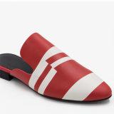 Women's Rouge Blanc Backless Slipper sur sans lacets