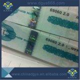 Голографические наклейки безопасности с голограммой тиснения фольгой