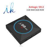 I98 PROAndroid 7.1.2 Fernsehapparat-Kasten mit Amlogic S912 Chips 1GB RAM/8GB ROM-Support 2.4GHz WiFi 4K HD