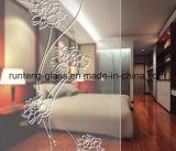 het vinger-Vrije Duidelijke Berijpte Glas van 312mm/het Geëtstep Glas van het Patroon Zuur/het Decoratieve Glas van de Kunst