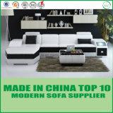 家具の中国の現代ホーム製造業者のイタリアの革角のソファー