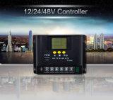 controlemechanisme van de Lader van het 12/24/48V40A PWM het AutoVoltage Zonne met LCD het Scherm
