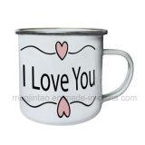 Самая лучшая кружка чашки эмали качества 12oz белая с Ss. Оправа