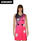 Хорошее качество лайкра дешевые нетбол платье Bodysuit (N008)