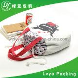 熱い販売法の高品質の昇進のキャンバスの綿のハンドルのドローストリングのショッピング・バッグ