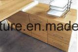 Mesa de escritório de madeira de Customied da mobília de escritório com tabela lateral