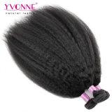 卸売100%の人間の毛髪のねじれたまっすぐな人間の毛髪の織り方