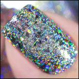 星明かりのホログラフィックレーザーの釘のきらめきの塵のマニキュアの釘の芸術の装飾