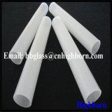 Polimento branco leitoso base plana pipeline de vidro de sílica