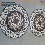 지면 도와를 위한 자연적인 돌 둥근 대리석 모자이크 큰 메달