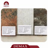 Revêtement de sol facile de PVC de cliquetis de mode en bois de cerise de couleurs légères