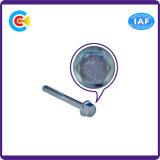 DIN/ANSI/BS/JIS Stainless-Steel Carbon-Steel/tige de la bride à tête hexagonale allongée vis plaquées de meubles
