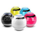 Haut-parleur portatif rond de Bluetooth d'éclairage LED avec radio fm