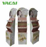Skin-Care cartón Expositor de suelo de pie, POS Supermercado corrugado cartón mostrar