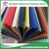 Tela não tecida do material de matéria têxtil 100% PP Spunbond com lista de preço