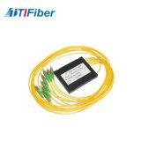 Divisor de acero del tubo y divisor óptico de fibra del divisor del ABS