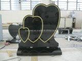 Grafsteen van de Vorm van het Hart van het Graniet van Shanxi de Zwarte Drievoudige