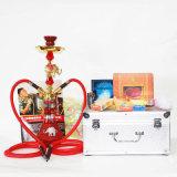 Roken van het Asbakje van Shisha van de Fles van het Glas van de Waterpijp van de Legering van het zink het Materiële Vastgestelde
