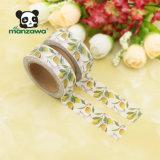 Cinta adhesiva impresa de encargo multiusos de Washi de limón del diseño encantador al por mayor del árbol