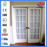 Белая нутряная нутряная двойная дверь Frameless складывая стеклянная