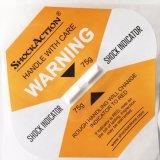 Shockaction vermindert Etiketten van de Schok van de Verpakking van de Verspilling van de Lading de Logistische