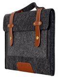 、MacBookの空気プロ、13-13.3インチMacBook黒いノートパソコンのためのMosisoのフェルトのラップトップのショルダー・バッグ