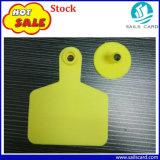 amarelo de 75*60mm com os Tag de orelha impressos número do gado