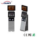 Vloer die de Dubbele LCD Digitale Kiosk van de Speler van de Lijn van het Scherm van de Reclame bevinden zich
