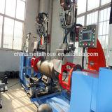 Máquina de soldadura do corpo do cilindro de gás com braços mecânicos