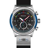Het hoogste Aangepaste Embleem van de Goede Kwaliteit van de Manier drukte het Waterdichte Horloge van het Silicone van Sporten af