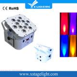 Hohe Helligkeits-weißes/schwarzes Gehäuse flaches 12X18W RGBWA UV6in1 drahtloses batteriebetriebenes LED NENNWERT Licht
