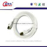 Azul CAT6 com cabo da rede de Gemt dos grampos de cabo