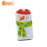 Коробка олова снеговика для подарков рождества