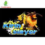 Juego de vector inglés de los pescados del asesino de Kirin de la máquina de juego del cazador de los pescados de la arcada de la versión para la venta