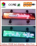 LEIDENE van de Kleur van het Beeld van de LEIDENE Vertoning van de Auto het Scrollen van de Binnen Programmeerbare RGB Volledige Steun van het Teken de Vertoning van het Scherm van de Reclame van de Tekst leiden