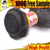 Non обрабатываемый черный бразильский продукт волос 9A