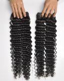 フィリピンのバージンの深いカーリーヘアーの拡張100%人間の毛髪