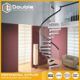 Barandilla de acero de madera de diseño de interiores pasos escalera de caracol