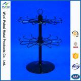 Contador de cable de metal giratoria Expositor con perchas (PHY196)