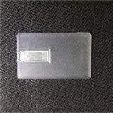 Kristallplastikkarte 4GB/8GB USB-Speicher-Stock-kundenspezifisches Firmenzeichen-Blitz-Federlaufwerk